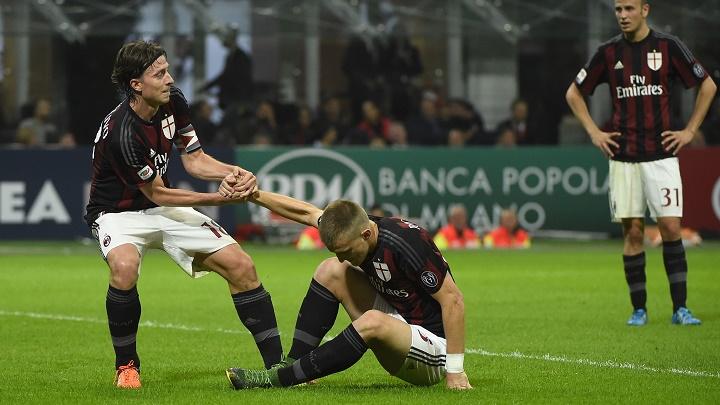 Milan jugadores abatidos