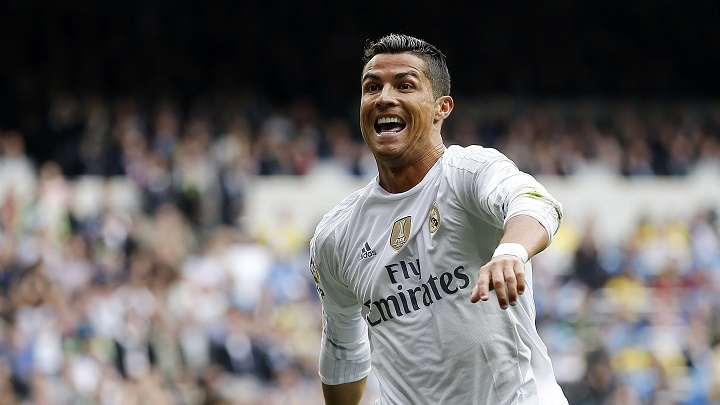 Cristiano Ronaldo feliz