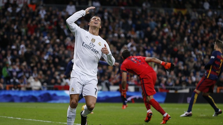 Cristiano Ronaldo lamentandose