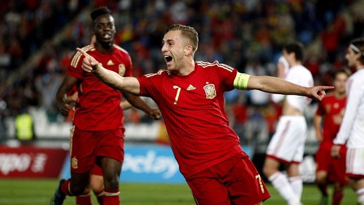 Deulofeu celebrando un gol