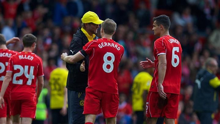 Gerrard y Klopp