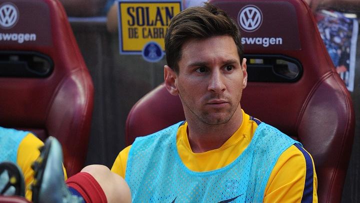 Leo Messi banquillo