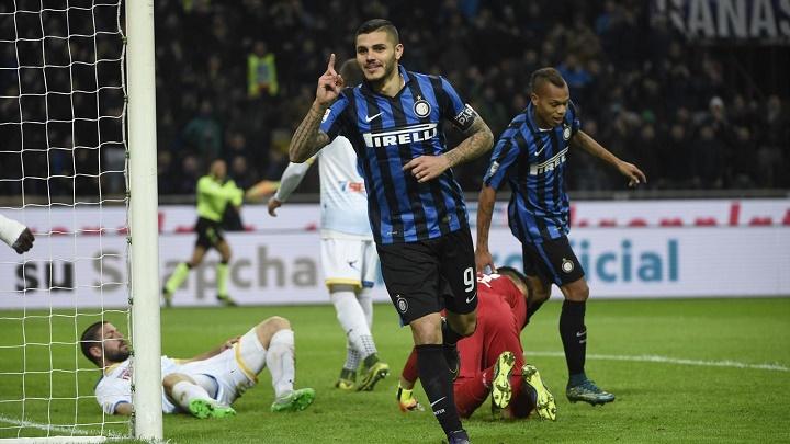 Mauro Icardi celebrando un gol
