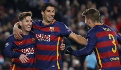 Messi Suárez y Piqué