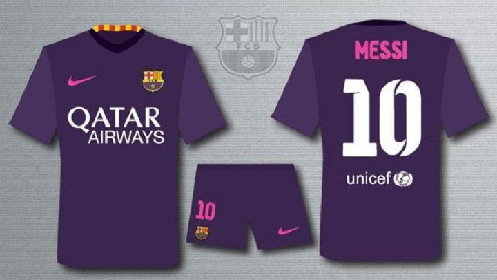 segunda equipacion Barcelona
