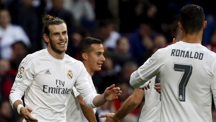 Bale Cristiano y Lucas Vazquez