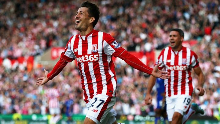 Bojan celebrando un gol