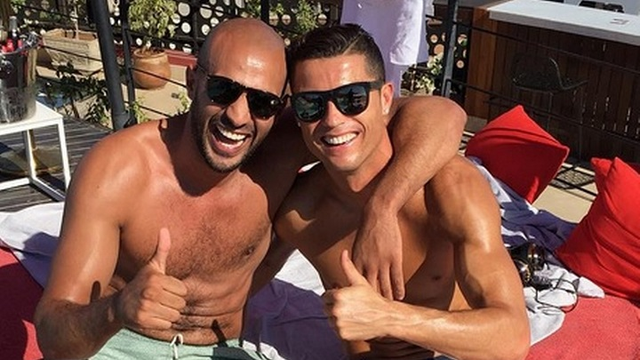 Cristiano y Badr Hari 2