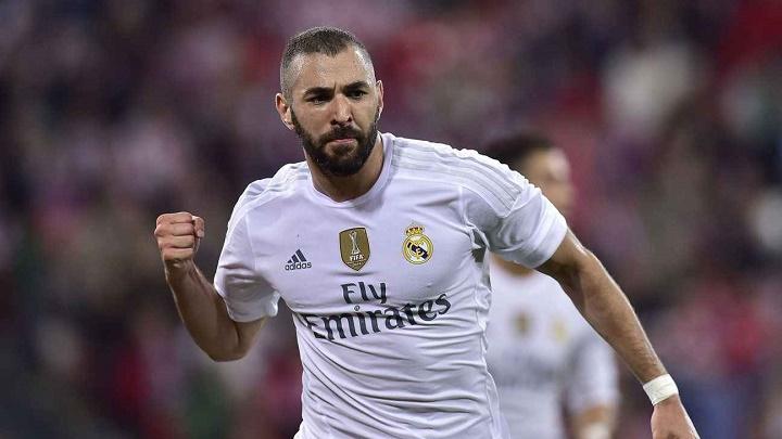 Karim Benzema celebrando un gol