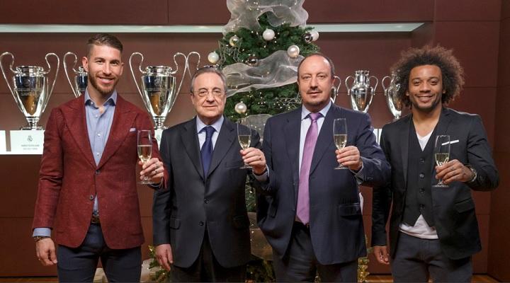 Hilo del Real Madrid Ramos-Florentino-Benitez-y-Marcelo