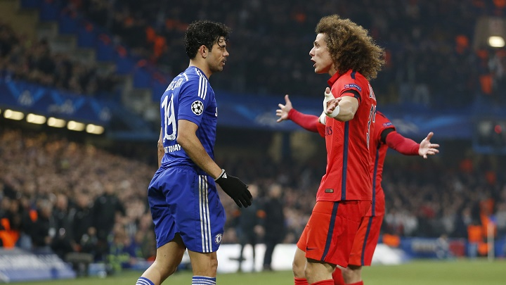 Diego Costa y David Luiz
