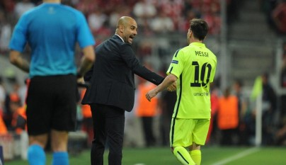 Pep Guardiola y Leo Messi