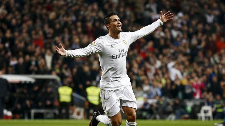 Cristiano celebrando un gol