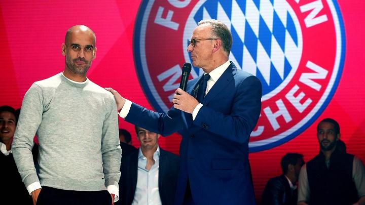 Guardiola y Rummenigge