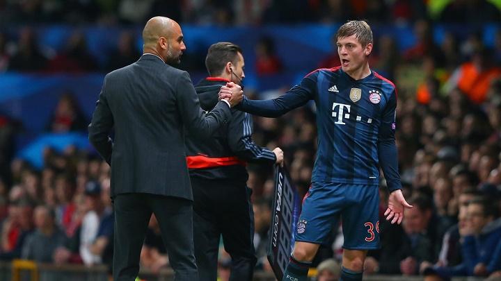 Guardiola y Toni Kroos