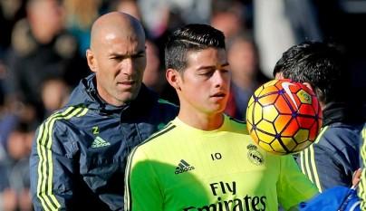 James Rodriguez y Zidane