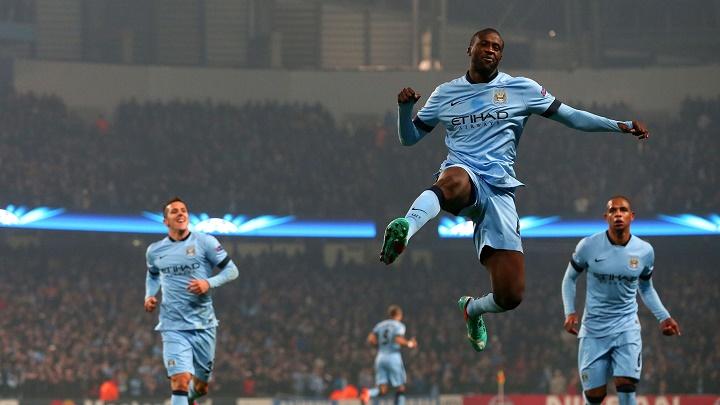 Yaya Touré celebrando un gol