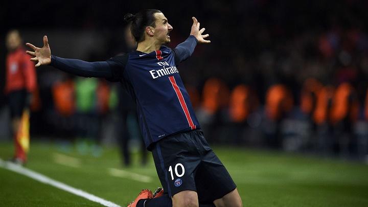 Zlaran Ibrahimovic celebrando un gol
