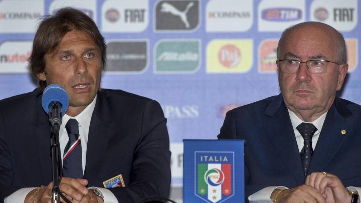 Antonio Conte y Carlo Tavecchio