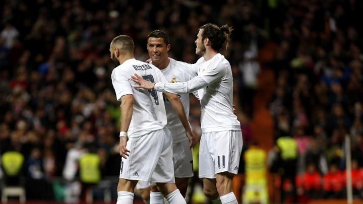 Benzema Cristiano y Bale