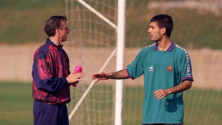 Cruyff y Guardiola