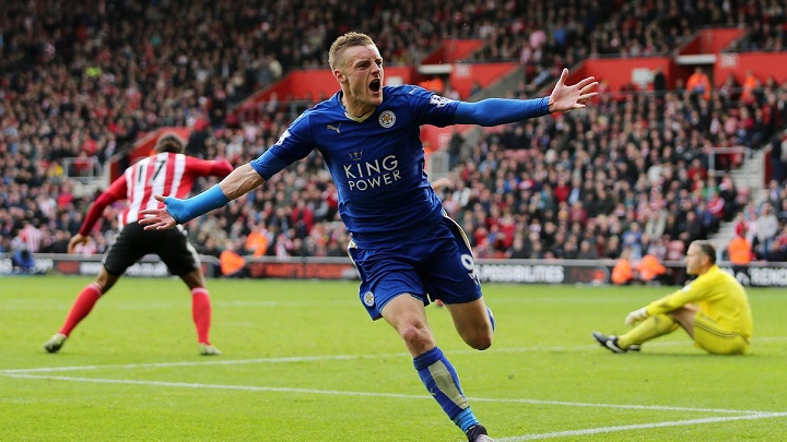 Jamie Vardy celebrando un gol