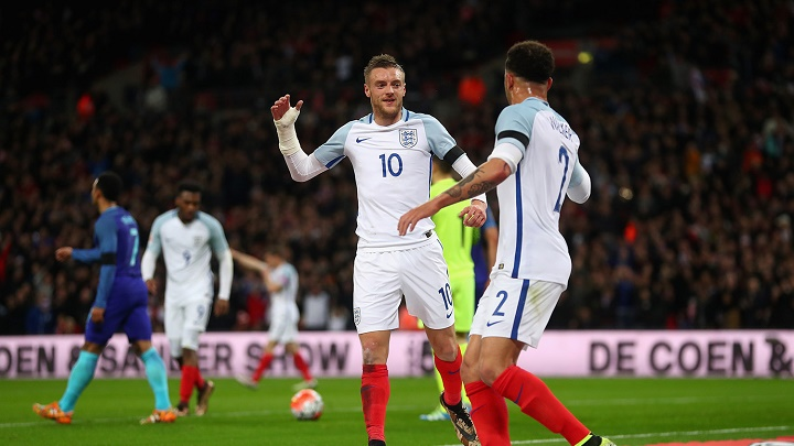 Jamie Vardy con Inglaterra