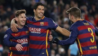 Messi, Suárez y Piqué