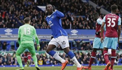 Romelu Lukaku celebrando un gol