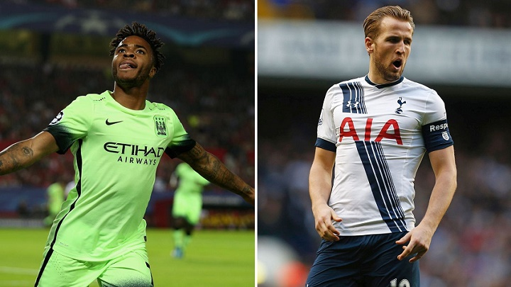 Sterling y Harry Kane