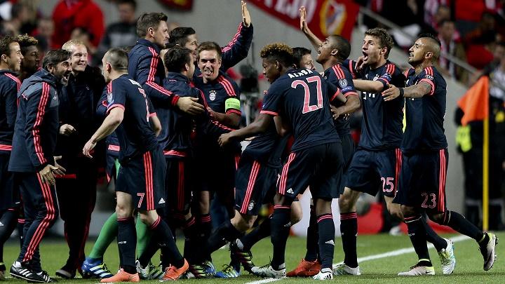 jugadores Bayern felices