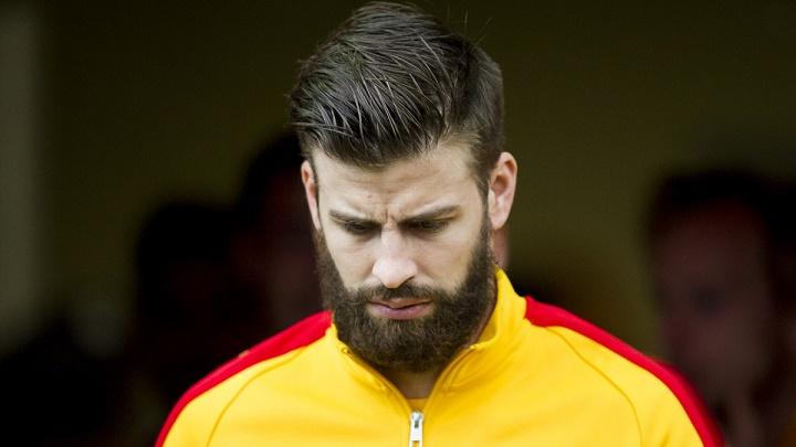 Gerard Piqué con barba