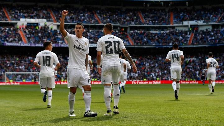 James celebrando un gol
