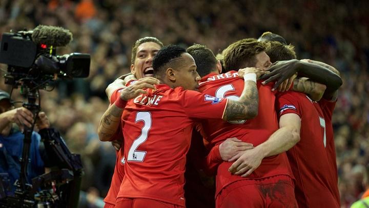 Liverpool celebrando la victoria