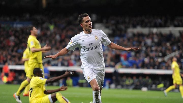 Lucas Vazquez celebrando un gol