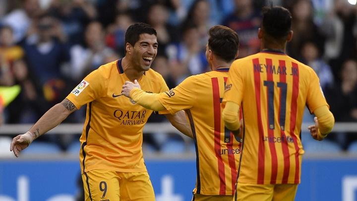 Suarez Messi y Neymar