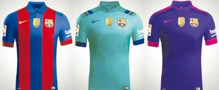 camsetas barcelona 2016-2017