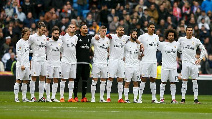 Minuto de silencio jugadores Real Madrid