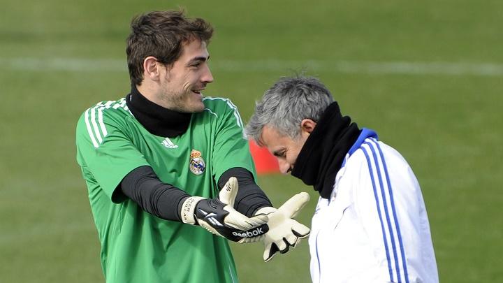Casillas y Mourinho