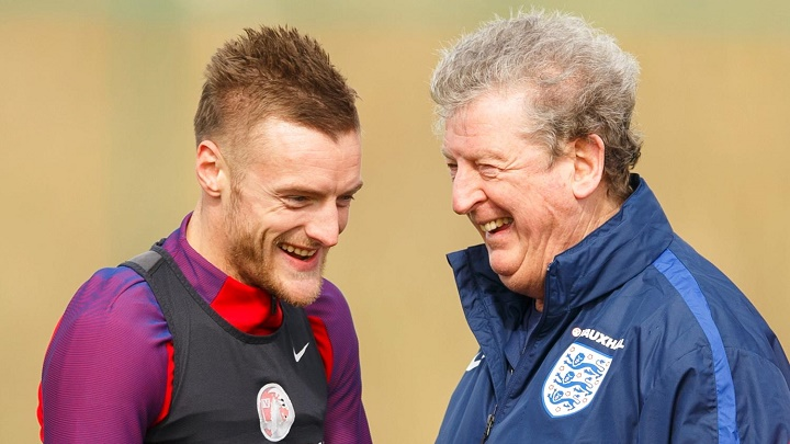 Roy Hodgson y Jamie Vardy