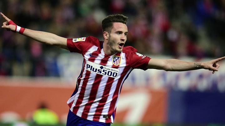 Saul celebrando un gol