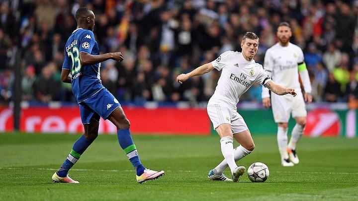 Toni Kroos contra el Wolfsburgo