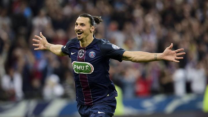 Zlatan Ibrahimovic celebrando un gol