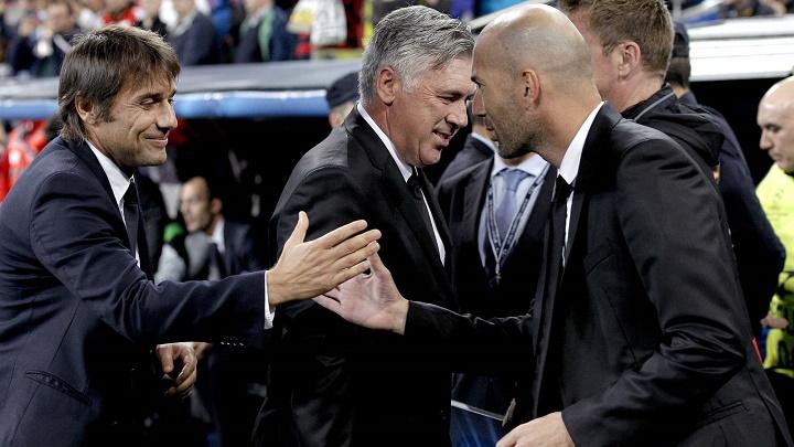 Antonio Conte y Zidane