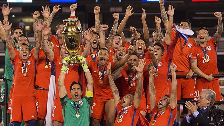Chile celebrando Copa América 2016
