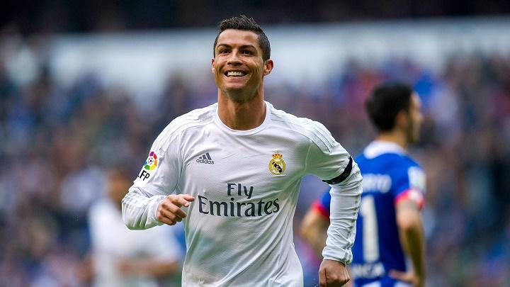 Cristiano Ronaldo sonriendo