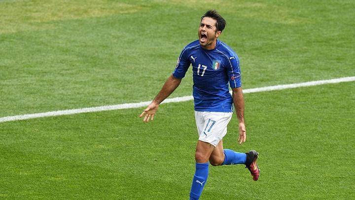 Eder celebrando su gol