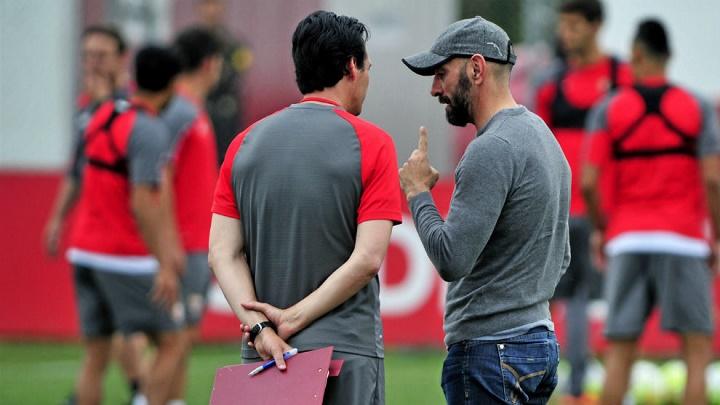 Emery y Monchi 2