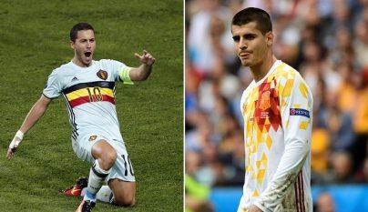 Hazard y Morata