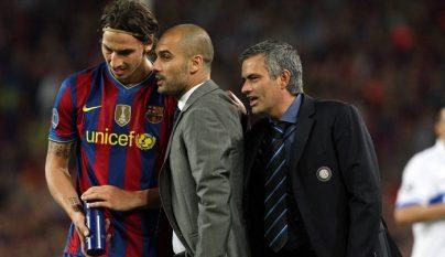 Ibrahimovic Guardiola y Mourinho